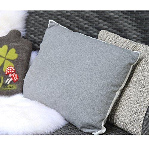 t Designer-Kissen mit integriertem ECO Wärmflasche, Unisex, Lebensart Designer Cushions with Integrated Eco, grau ()
