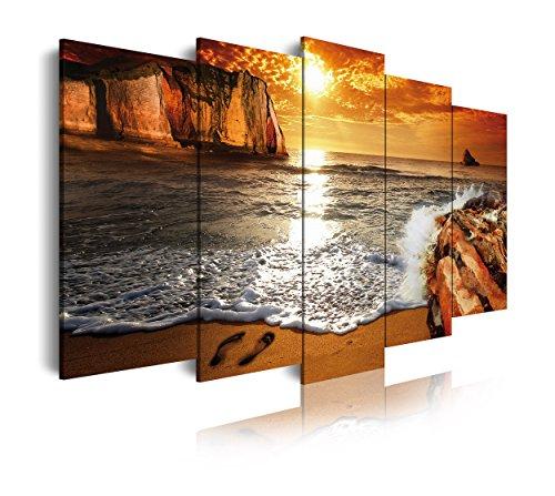 DekoArte 263 - Cuadro moderno lienzo 5 piezas paisaje