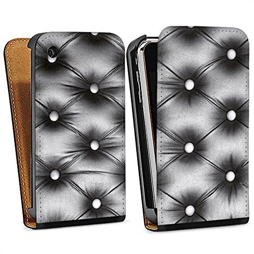 Apple iPhone 5s Housse Étui Protection Coque Sofa Cuir Motif Sac Downflip noir