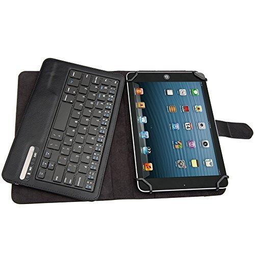 TOOGOO(R) Bluetooth Slim Tastatur Staender Wireless Funk fuer Tablet 7-8 Zoll NEU Schwarz Wireless Tastatur Ipad2