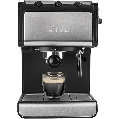 Tristar Espressomaschine mit Milchschaumdüse – 1,4L Wassertank mit automatischer...
