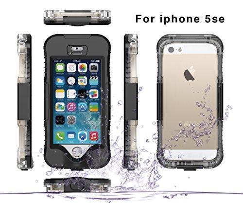 fitmore iPhone 5SE 5S 5 Hülle Wasserdichte Taschen Outdoor Case Stoßfest Unterwasser 360° Full Sealed Hülle Shockproof IP68 Waterproof Robuste Hülle Cover Staubdicht Schutzhülle (Cover Iphone Wasserdicht 5)