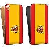 HTC Desire 820 Tasche Hülle Flip Case Spanien Flagge Fußball