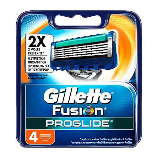 Gillette Fusion ProGlide Ricarica di Lame, 4 Testine