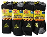 Best Work Boot Socks - 12x Mens Hard Wearing Work Socks - Safety Review