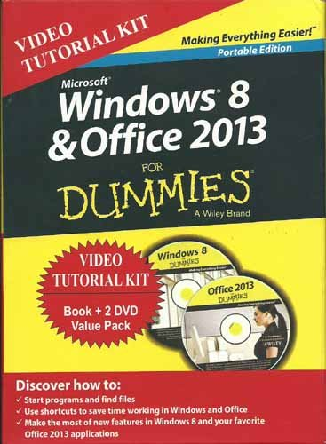 Windows 8 & Office 2013 For Dummies, Portable Ed + 2 Dvd Bundle