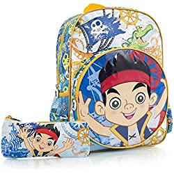 Disney Heys Jake & The Never Land Pirates Kids Backpack con estuche de l¨¢pices 15