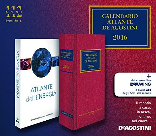 Calendario atlante De Agostini 2016-Atlante dell'energia. Con aggiornamento online