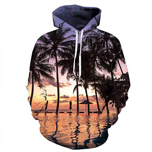 Sport Herren Kapuzenpullover, Kanpola 3D Druck Hoodie Sweatshirt Slim Fit Sweatjacke Warm Hoody Pullover Kapuze ()