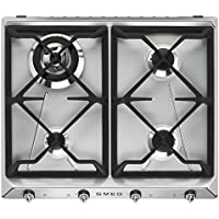 Smeg SR964XGH hobs - Placa (Integrado, Gas, Acero inoxidable, Giratorio, Frente, 220 - 240V)