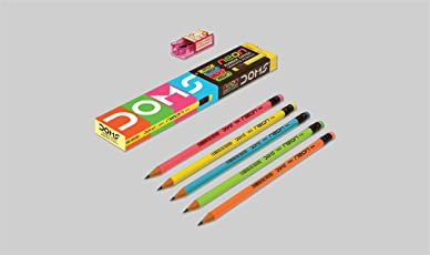 Gift Hub - Doms - Rubber Tipped Neon Pencils - Pack of 2 - Gift Item - Return Gift Item