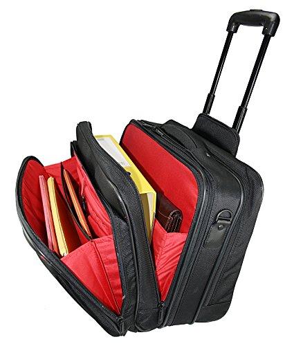 Business Trolley Laptop Tasche Pilotenkoffer Boardcase RAUMWUNDER Notebook Trolleytasche Bürotasche mit Laptopfach 17 Zoll Koffer Rollen Bord Gepäck