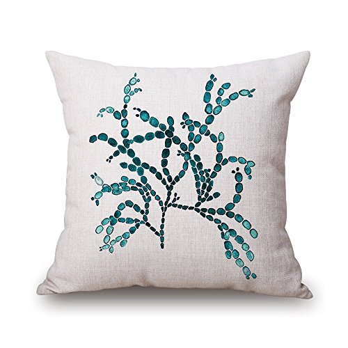 "Milesky Thick Square Decorative Throw Pillow Case 18x18"", Approx. 190g, Series I (Float Grass A)"