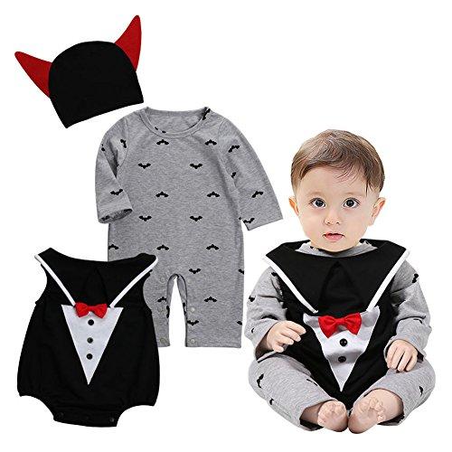 Baby Jungen Mädchen Halloween Set - Juleya Vampir Kostüm Langarm Kinder Bekleidungs Schlafanzüge Set (Shooting Kostüm Ideen Halloween Foto)