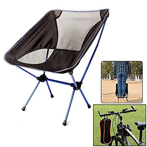 Candora™ Portable Ultralight Folding Chair, with Carry Bag Heavy Duty 330lbs Capacity Foldable Seat for Picnic Hiking Fishing Camping Garden BBQ Beach Patio Outdoor & Indoor Activities by Candora
