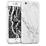 kwmobile Coque Apple iPhone 6 / 6S - Coque pour Apple iPhone 6 / 6S - Housse de téléphone en Silicone Blanc-Noir