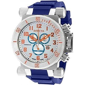 Invicta Men's 51mm Chronograph Blue Polyurethane flame fusion Quartz Watch 18728