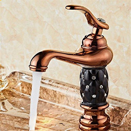 ETERNAL QUALITY Bad Waschbecken Wasserhahn Küche Waschbecken Wasserhahn Kupfer Badewanne Heiß Und Kalt Vintage Einlochkeramik Waschtischmischer BEG724 (Vintage-kupfer-badewanne)