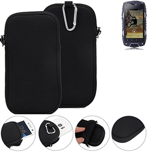 K-S-Trade Neopren Hülle für Bestore Z6 Schutzhülle Handyhülle schwarz