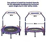 LBLA Kindertrampolin, Trampolin, mit verstellbarem Handlauf und gepolsterter Abdeckung Mini Faltbarer Bungee Rebounder, Innen- / Außentrampolin Maximale Gewicht Beträgt 60KG - 3