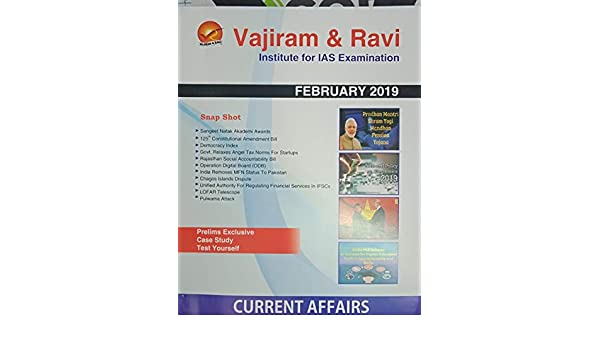 Amazon in: Buy VAJIRAM CURRENT AFFAIR - FEBRUARY 2019 Book