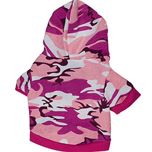 Haustier Hund Camouflage Kapuzenweste Coat - Pink, L