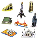 8 in 1 3D Monuments Puzzle Game DIY Kids...