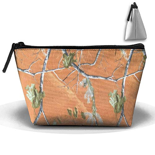 Orange Realtree Camo Persönlichkeit tragbare Frauen Trapez Reisetasche Kosmetiktasche erhalten Tasche -