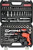 100-Tlg. Steckschlüsselsatz Werkzeugkoffer mit 1/2