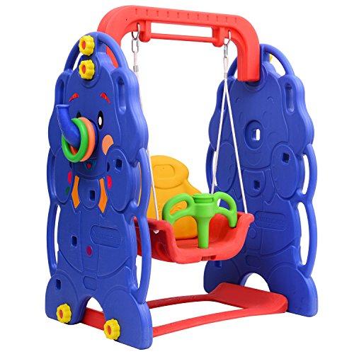 Outsunny altalena da giardino per bambini parco giochi giocattoli da giardino elefante - Altalena da giardino amazon ...