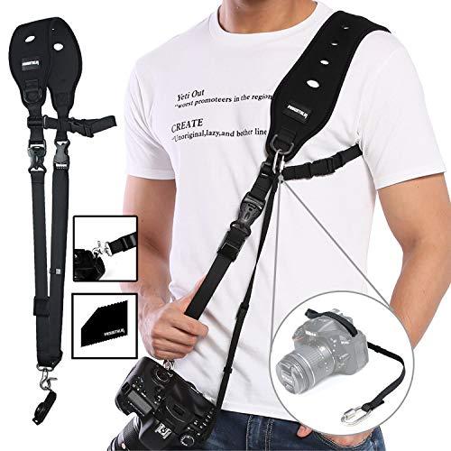 prowithlin Kamera Gurt - Schultergurt mit Sicherheits Tether Montageplatte für Kamera DSLR SLR (Canon Nikon Sony Olympus Pentax, etc.)