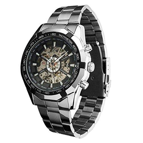 Militär Ball Cap (Uhr Herren Uhren Herrenuhr Armbanduhr Herren DAY.LIN Steampunk Uhr Mens automatische mechanische Männer Armbanduhr (Schwarz))
