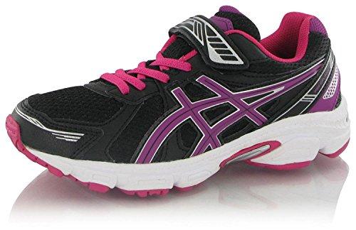ASICS Unisex-Kinder Running Pre Galaxy 7 Ps Lauflernschuhe Sneakers, Black/Purple/Pink, 49 EU