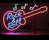 "cozyle Live música guitarra neón Sign 17""x14"" real cristal brillante luz de neón para Mancave cerveza Bar Pub garaje sala"