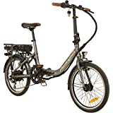 REMINGTON City Folder 20 Zoll Faltrad E-Bike Klapprad Pedelec StVZO Elektrofaltrad, Farbe:Silber