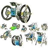 14 in 1 Solar Robot Kit Roboter Schiff Auto Boxer Hund Turtle Walker Row Crab Slither Beetle Wheel Surf