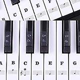 Klavier Aufkleber Transparent Noten-Aufkleber Klaviertasten Aufkleber f¨¹r 49/61 / 76/88 Key Keyboards (Schwarz)