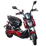 Elektroroller E Rider 1200W Elektrisches Street Bike Moped Adult Motorrad bis 45km / h (Rot)