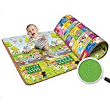 Latiq Mart Kids & Baby Waterproof Soft and Sturdy Imported Double Side Baby Play Crawl Mat - (120 x 180 cm)