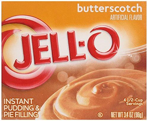 Preisvergleich Produktbild Jell-O Butterscotch Puddingpulver und Kuchenfüllung 96 g