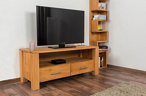 TV - Unterschrank Wooden Nature 125 Buche massiv - 48 x 116 x 45 cm (H x B x T)