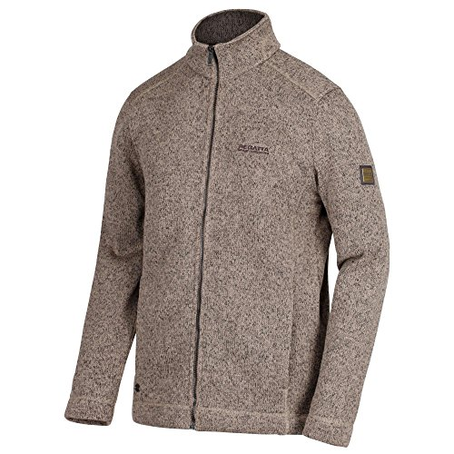 Regatta Herren Branton Full Zip Knit Look Fleece S Clay Long Sleeve Full Zip Fleece