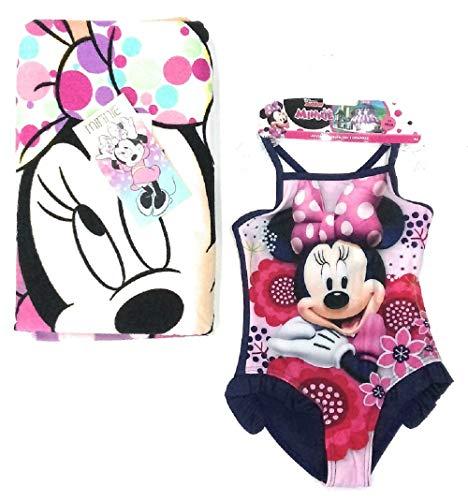 Bañador Minnie Mouse Disney + Toalla para niñas Minnie Mouse Disney Microfibra 6 años
