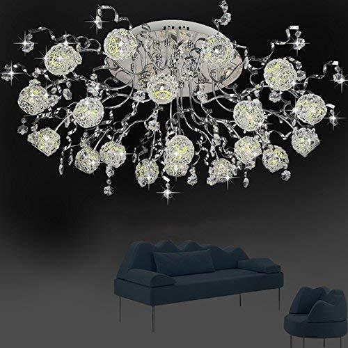 G4 Niedrigen Metall (ZHYZN Lampen Decke, Kristall Loriginal Klebrige Metall Lounge Schlafzimmer Niedrigen Lampendruck G4 57 Watt Lampe Warmes Weißes Licht Licht 82 * 33 cm,Weißes Licht)