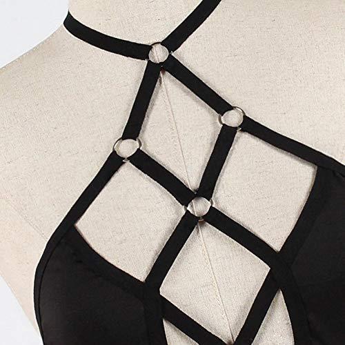 Cokeymove Sexy BH Für Frauen, Punk-Stil Krawatte Spaghetti-Trägern Sexy Unterwäsche Frauen Dessous Strap Kleid Lace Cup Nachtwäsche innate - 6