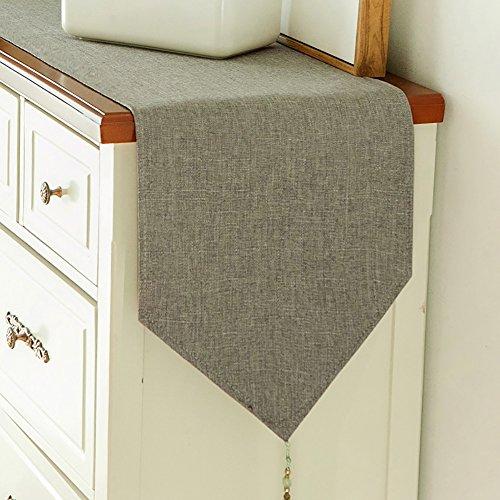 Tischläufer Schuhe Cabinet TV Cabinet Cover Handtuch reine Farbe Tee Tischdecke Tischdecke moderne und einfache amerikanische lange Tischdecke (Farbe : Hellgrau, größe : 30 * 220cm) - Cabinet Cover