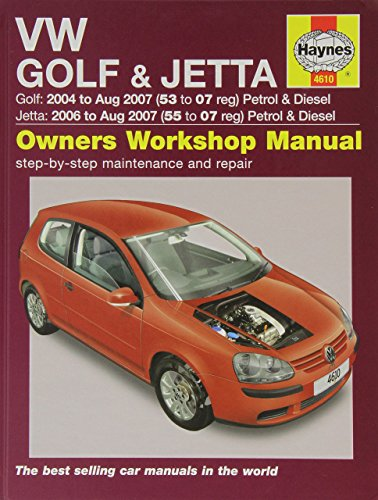 VW Golf and Jetta Petrol and Diesel Service and Repair Manual: 2004 to 2007 (Service & repair manuals) by A. K. Legg (7-Nov-2014) Hardcover