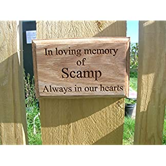 'Memorial Plaque/Graveside Memorial Personalised Engraved Freeze Frame/Photo Engraving High Shine Acrylic Assorted Colours Tombstone Plate DIY Ornament for Dogs, Cats and Horses 51SErGk0OeL