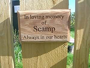 erinnerungsplakette Schild personalisierbar Gedenktafel für Haustiere Hund Katze Kaninchen Pferd Hamster Haustier Gedenktafel