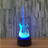 Musik Coole Gitarre Bass 3D Led Lampe Nachtlicht 7 Farbwechsel Musiker Hause Tischdekoration Geburtstag Weihnachtsgeschenk Geschenk